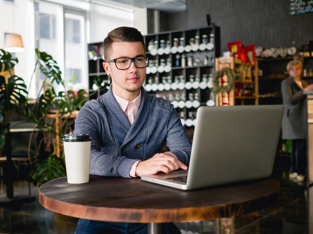 Business owner entrepreneur reviewing cash flow statement