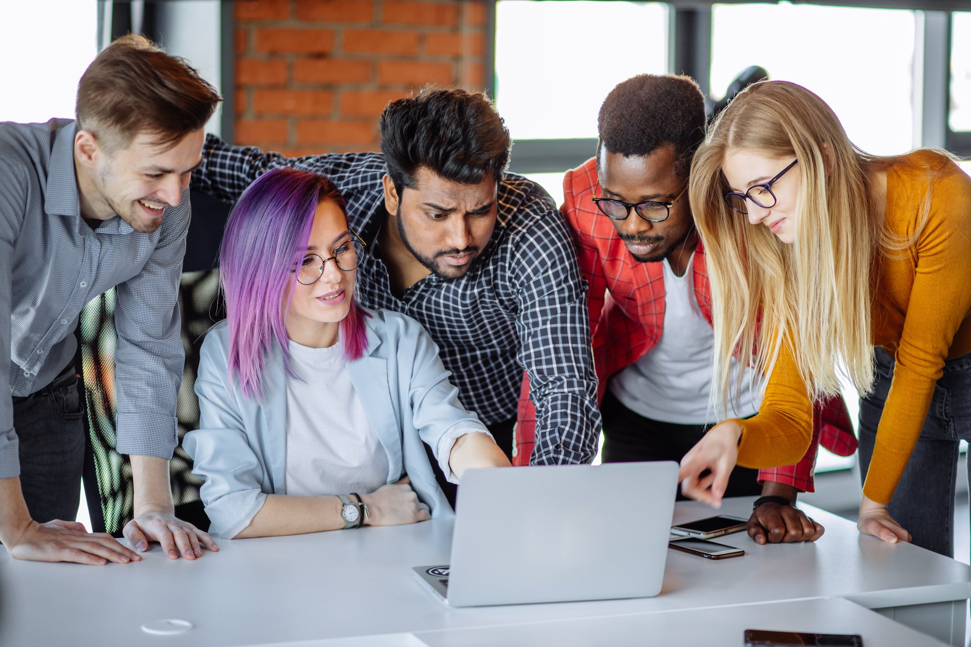 Business owners entrepreneurs reading a blog online