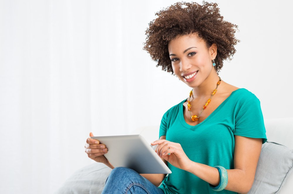 Entrepreneur growing a business online